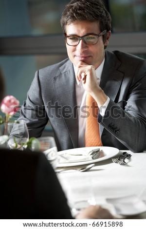 Business Dinner or Elegant Couple - stock photo