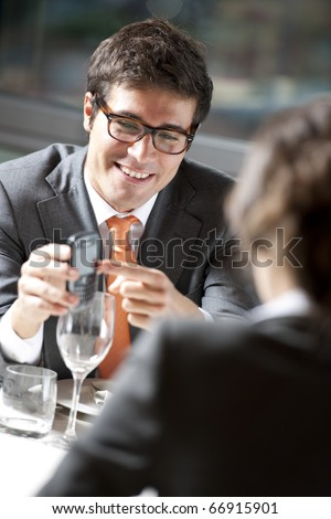 Business Dinner or Elegant Couple - stock photo