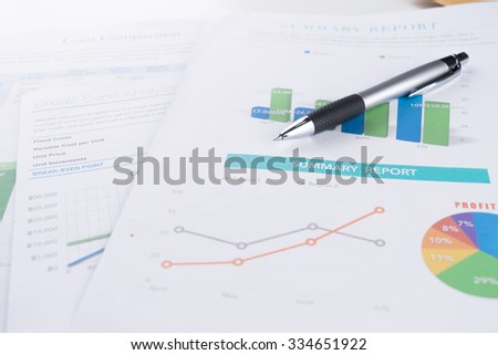 business document and pen. - stock photo