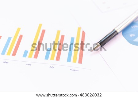 Business document charts and graphs