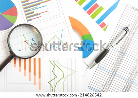 Business documents background - stock photo
