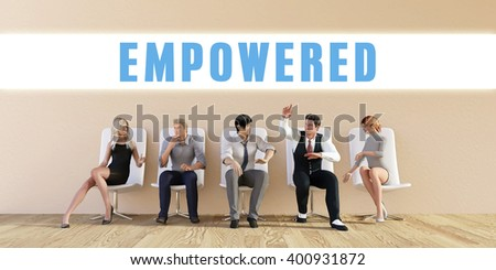 Business Empowered Being Discussed in a Group Meeting 3D Illustration - stock photo