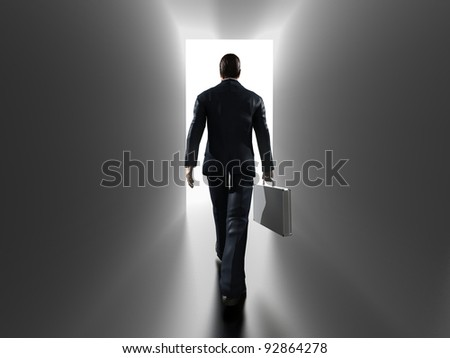 Business entering - stock photo