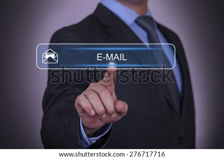 Business Envelope E-Mail Touching Concept - stock photo