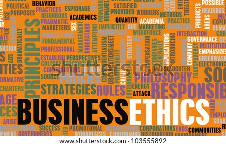 Business Ethics and Guidelines as a Concept - stock photo