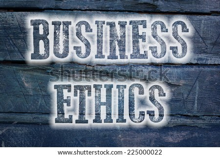 Business Ethics Concept text on background - stock photo