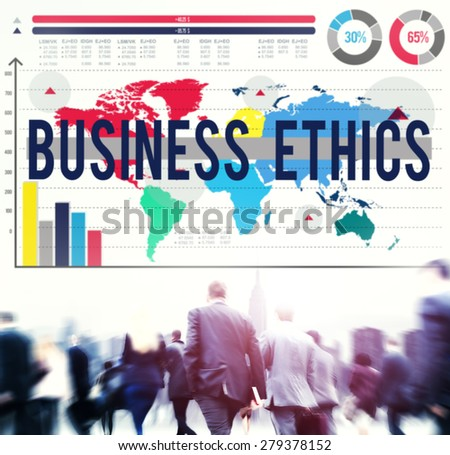 Business Ethics Moral Responsibility Business Concept - stock photo