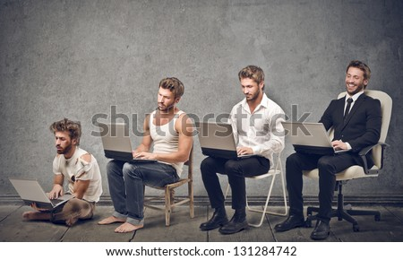 business evolution - stock photo