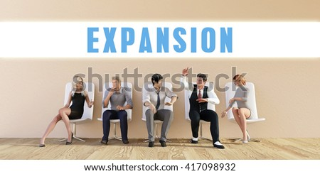 Business Expansion Being Discussed in a Group Meeting - stock photo