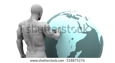 Business Expansion into Africa or African Continent Concept - stock photo