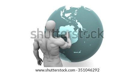 Business Expansion into Australia or New Zealand Concept - stock photo