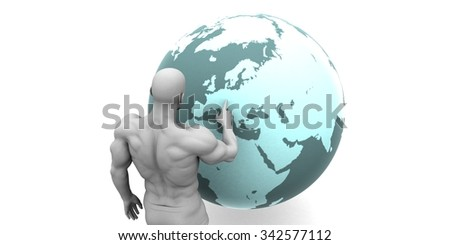 Business Expansion into Europe or European Continent Concept - stock photo