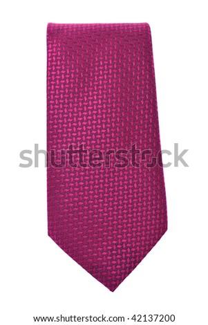 business fashion isolated new necktie on white background - stock photo