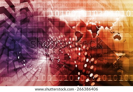 Business Finance and Technology as a Art Abstract background - stock photo
