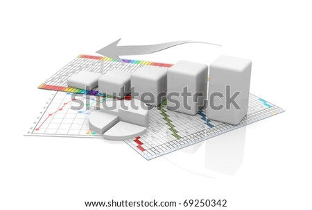 business finance chart, diagram, bar, graphic move down