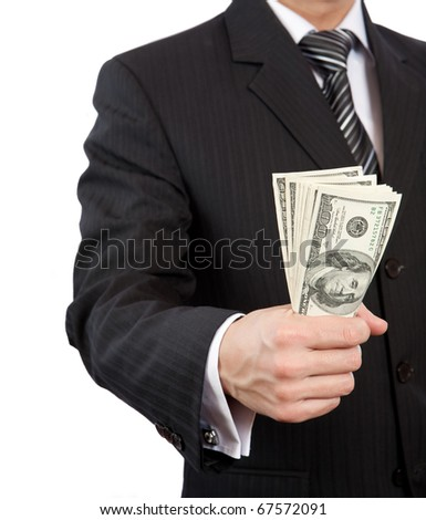 Business  Finance Money in hand - stock photo