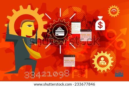 Business Finance Restructure- Illustration - stock photo
