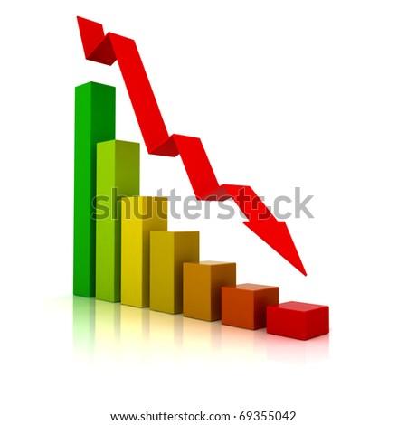 Business Financial Crisis - 3D illustration - stock photo