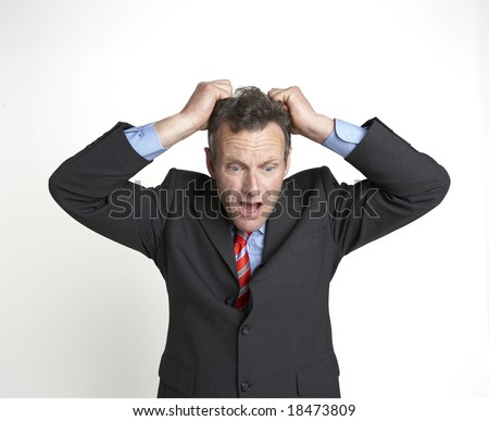 business frustration! - stock photo