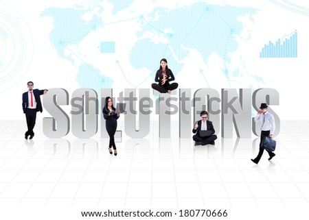 Business global solutions people - stock photo