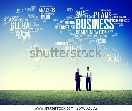 Business Global World Plans Organization Enterprise Concept - stock photo