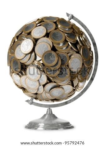 business globe - stock photo