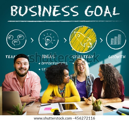 Business Goal Plan Growth Strategy Concept - stock photo