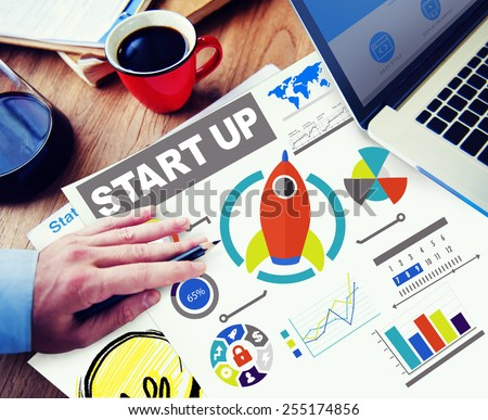 Business Goals Start up Planning Innovation Working Concept - stock photo