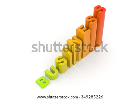 Business / graph created by 3d letters / Success / Business graph