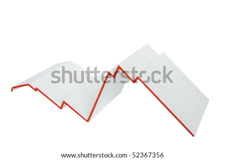 Business Graph: crisis concept isolated on white - stock photo