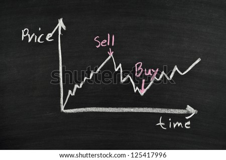 business graph for stock exchange analysis - stock photo