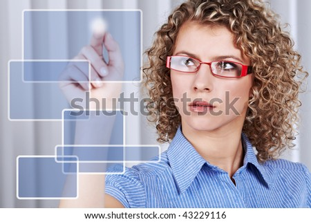 Business graph on air - stock photo