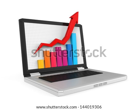 Business Graph on Screen - stock photo
