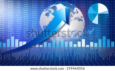 business graphs background