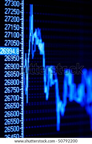 Business graphs on the lcd screen. - stock photo