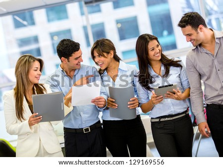 Business group working together at the office - stock photo