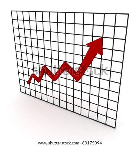Business growth arrow graph