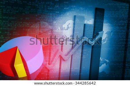 Business growth chart background