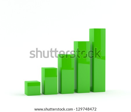 Business growth Graph - Chart - stock photo