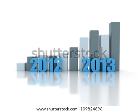 business growth per year - stock photo