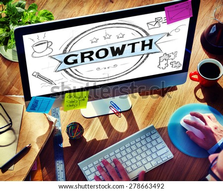 Business Growth Planning Strategy Development Concept - stock photo