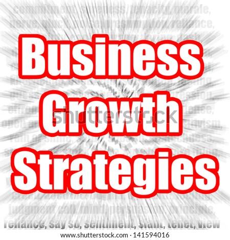 Business Growth Strategies - stock photo