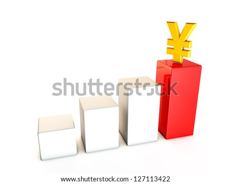 Business growth yen - stock photo