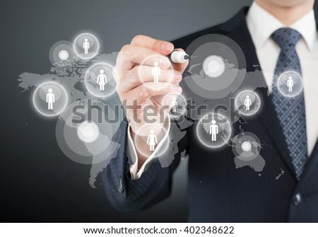 Business hand illustration.