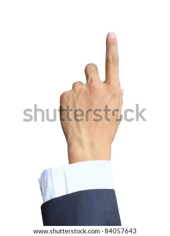 Business hand press - stock photo