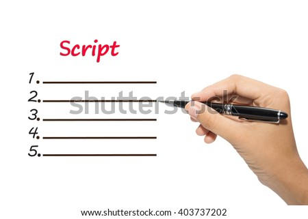 Script Writing Stock Images Royalty Free &amp Vectors  Shutterstock