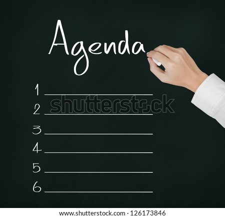 Agenda Board Stock Images, Royalty-Free Images & Vectors