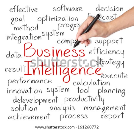 business hand writing business intelligence concept - stock photo