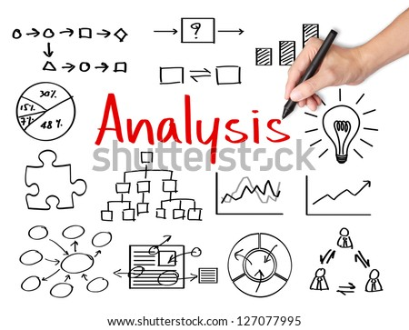 Business Hand Writing Data Analysis Stock Photo Royalty Free