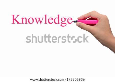 Business hand writing knowledge concept